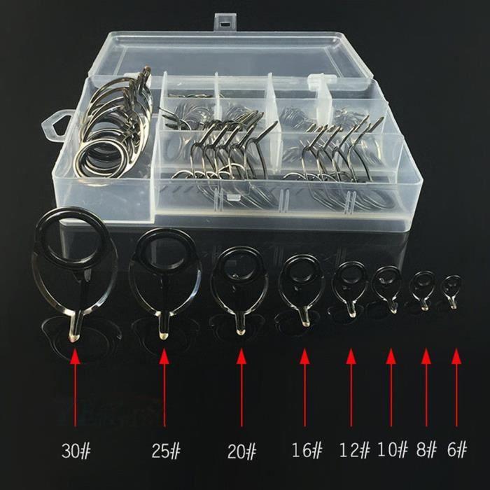 CANNE À PÊCHE Canne à pêche Anneaux kit de réparation 75pcs Céra