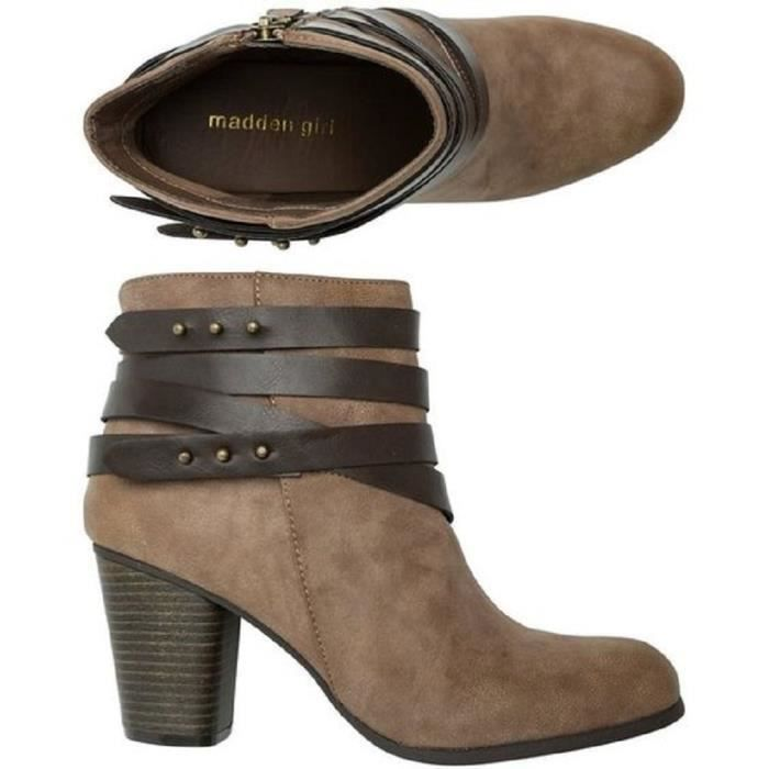 Madden Girl Deluxe Western Strappy Bootie NIY12 Taille-40