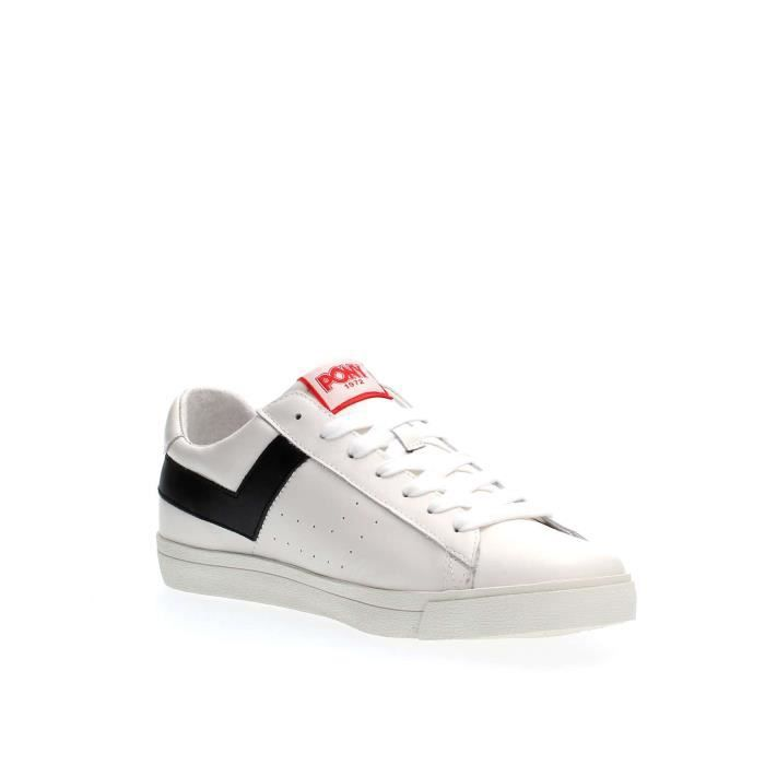 WHITE Homme 40 SNEAKERS PONY BLACK E5OpTq