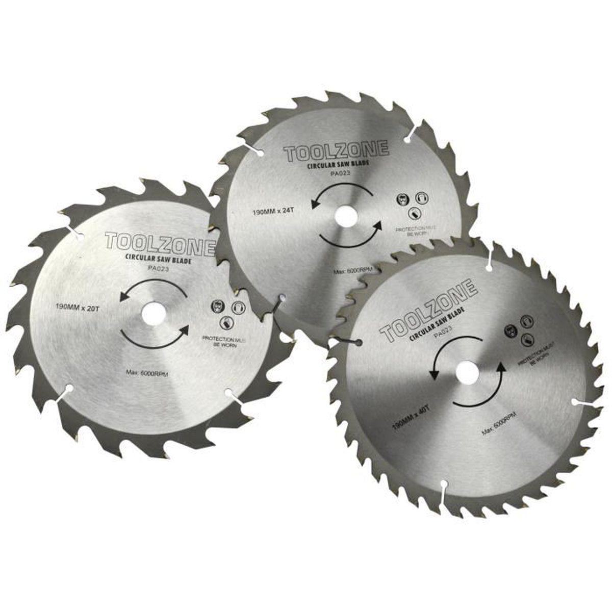 6 Toolzone 150 mm -Lames pour scie /à m/étaux