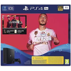 CONSOLE PS4 Console PS4 Pro 1To Noire/Jet Black + FIFA 20 + 14