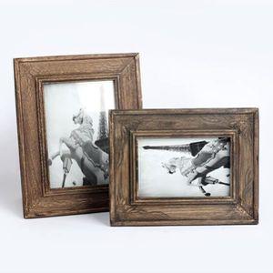 CADRE PHOTO Cadre photo Vintage Home Decor en bois mariage Cas