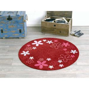 tapis fleur rouge achat vente tapis fleur rouge pas cher cdiscount. Black Bedroom Furniture Sets. Home Design Ideas