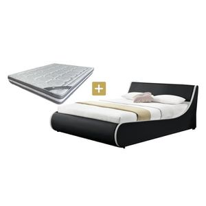 lit coffre complet 160x200 avec matelas achat vente pas cher. Black Bedroom Furniture Sets. Home Design Ideas