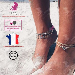 CHAINE DE CHEVILLE LCC® Chaines bracelets de cheville argent femme fi