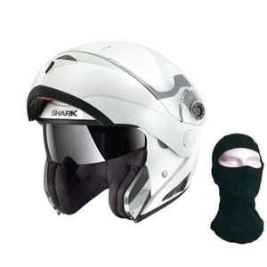 CASQUE MOTO SCOOTER SHARK Casque modulable Openline blanc + Cagoule