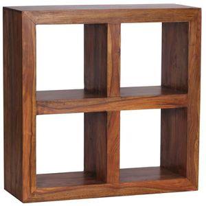 MEUBLE ÉTAGÈRE Etagère en bois massif de palissandre, H 82 x L 82