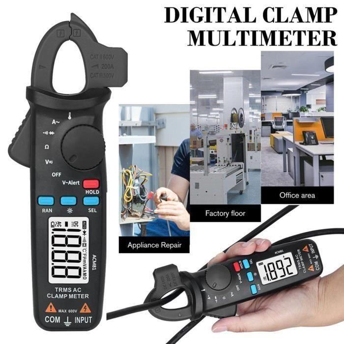 ACM81 Vrai RMS AC pince ampèremétrique 1mA gamme automatique Mini multimètre numérique v-alerte testeur de Diode