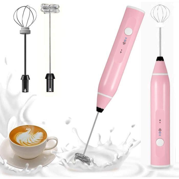 Mousseur à lait électrique - Fouet émulsionneur à Lait USB - Mousseurs à lait à main Rechargeable par USB pour Café Latte Cappuccino