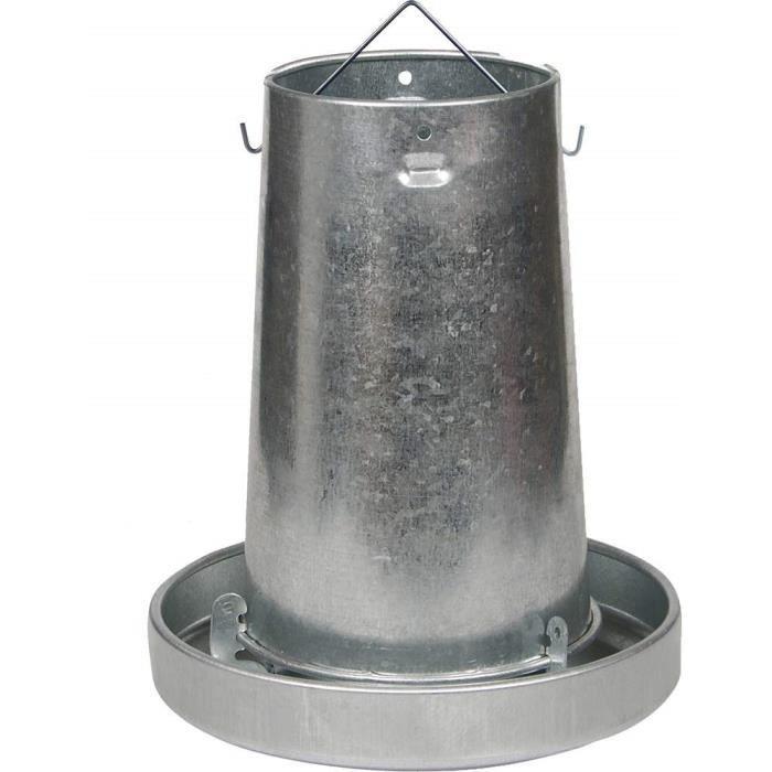 Desconocido Mangeoire Poules trémie en métal 10 kg