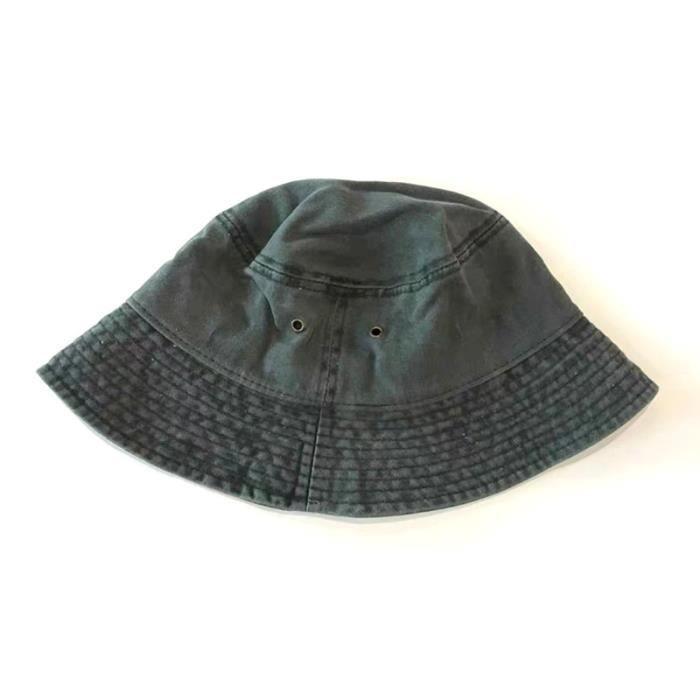 ArmyGreen 56-58cm -Chapeau de pêcheur coupe vent unisexe, bob, style hip hop, chaud, pour l'extérieur