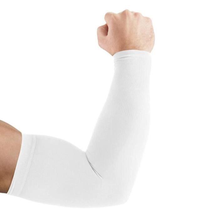 Manchettes de Bras Manchon Bras Anti-UV Protection UPF 50+ Manche de Bras Respirante Manchettes pour Hommes Femmes pour Cyclisme
