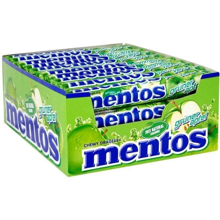 MENTOS Boîte de 40 rouleaux - Pomme
