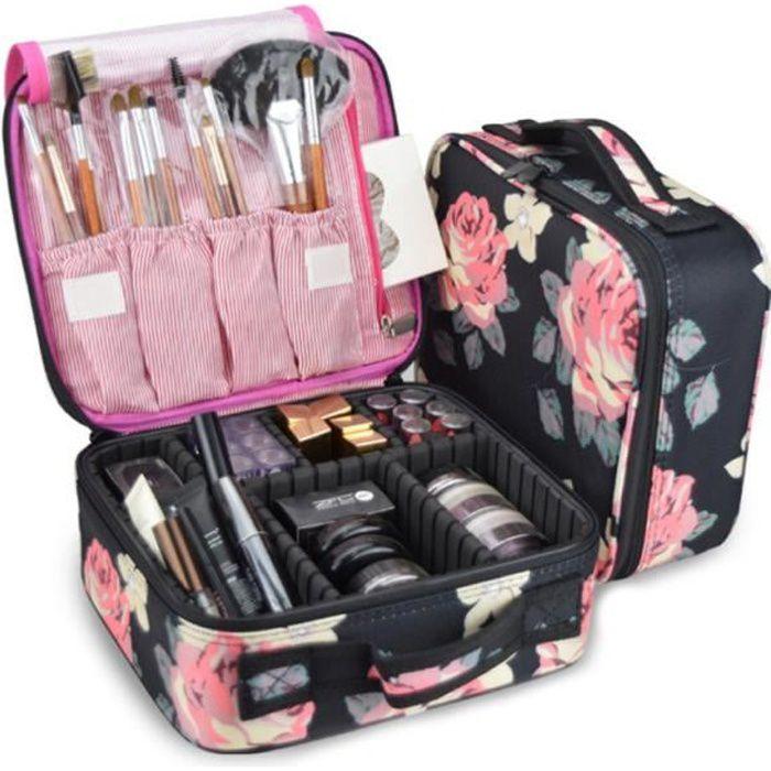 Sac De Maquillage Mallette De Maquillage Professionnel Trousse De Maquillage Femmes Toilette De Voyage Pouch Make Up Organiseur Avec