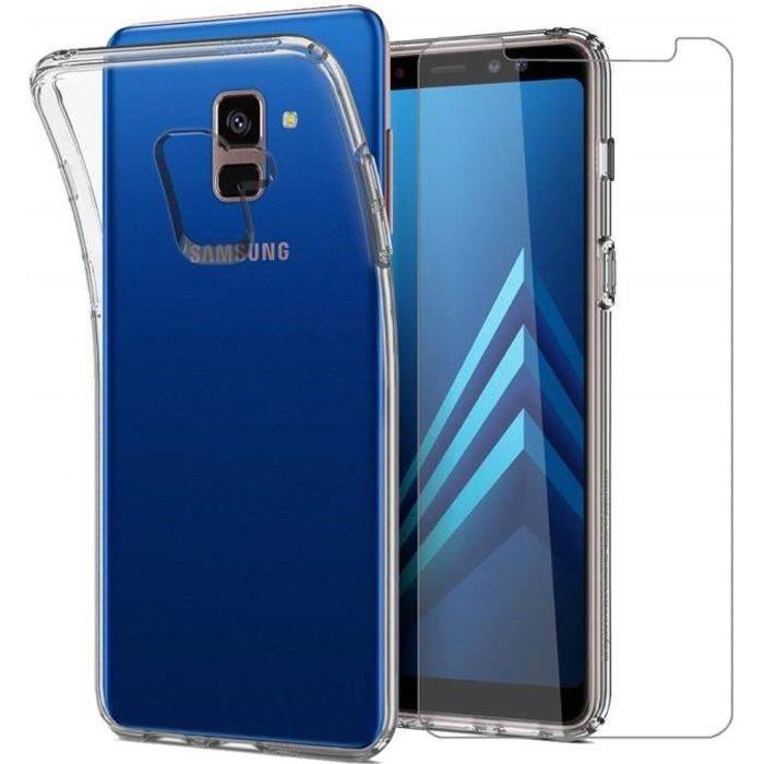 Pack de Coque + Verre Trempé Samsung Galaxy A8 2018 Protection Antichoc
