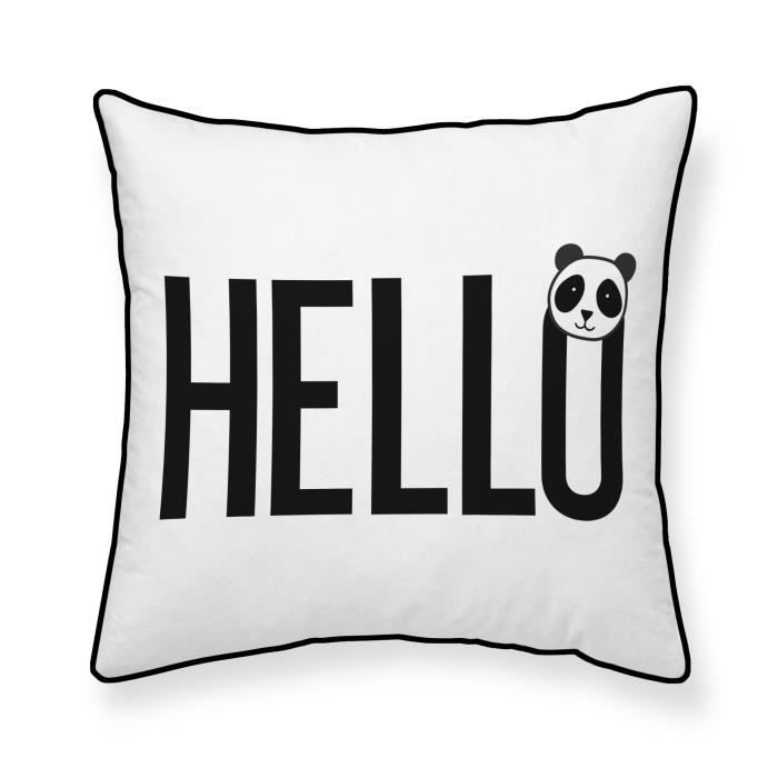 TODAY Coussin 100% coton Hello - 40x40 cm