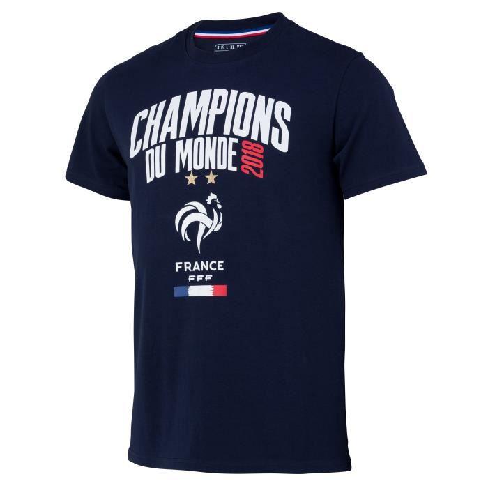 T-shirt Equipe de FRANCE - CHAMPION DU MONDE 2018 - FFF - Adulte