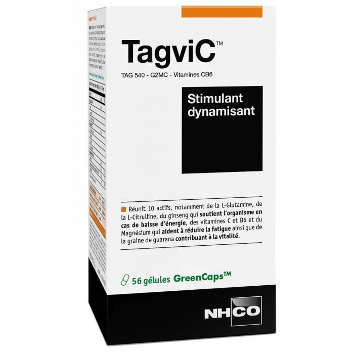 NHCO NUTRITION TAGVIC - Stimulant Dynamisant - 56 Gélules