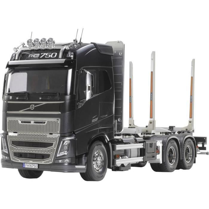 Camion RC Tamiya Volvo FH16 Globtrotter 750 6x4 Timber Truck 56360 1:14 électrique kit à monter 1 pc(s) - VEHICULE A CONSTRUIRE -