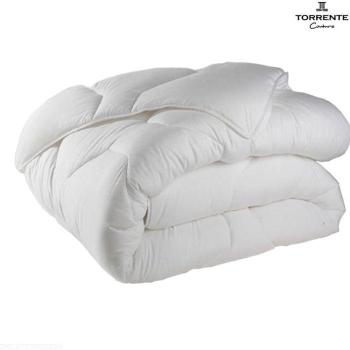 Couette toutes saisons Torrente 240x260 cm 500 gr/m² Blanc