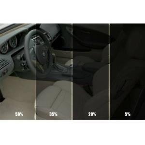 Film solaire de qualite 3m x 76cm, teinte 15% VLT (couleur Noir) auto, batiment