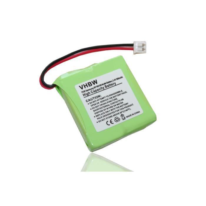 Batterie NI-MH 600mAh 2.4V compatible pour SAMSUNG SPR-6100 - SPR-6150 - SP-R6100 - SP-R6150