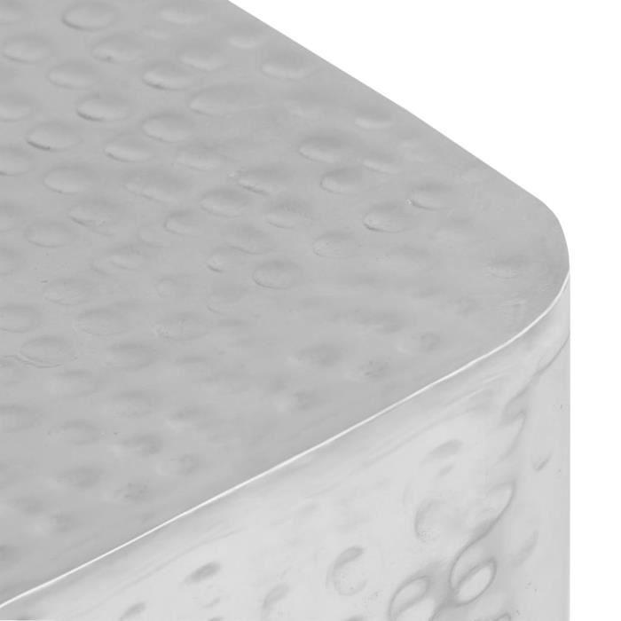 SWT Tables basses 2 pcs Argenté Aluminium