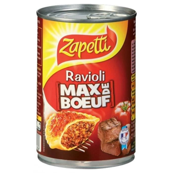 Zapetti Ravioli Max De Boeuf 400g (lot de 6)