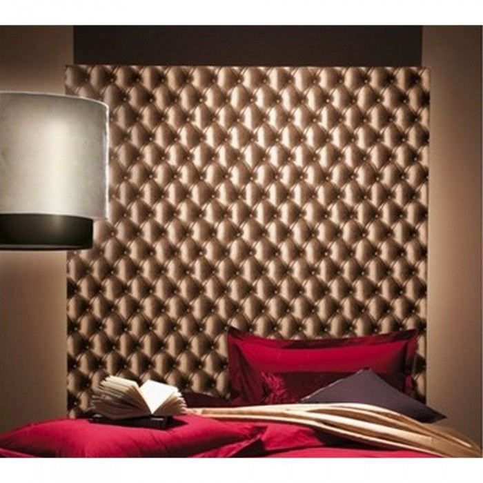 papier peint capitonn cuir couleurs chocolat m achat. Black Bedroom Furniture Sets. Home Design Ideas