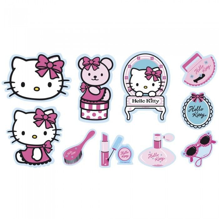 D coration mousse hello kitty x10 couleur mul achat vente statue statuette cdiscount - Hello kitty couleur ...