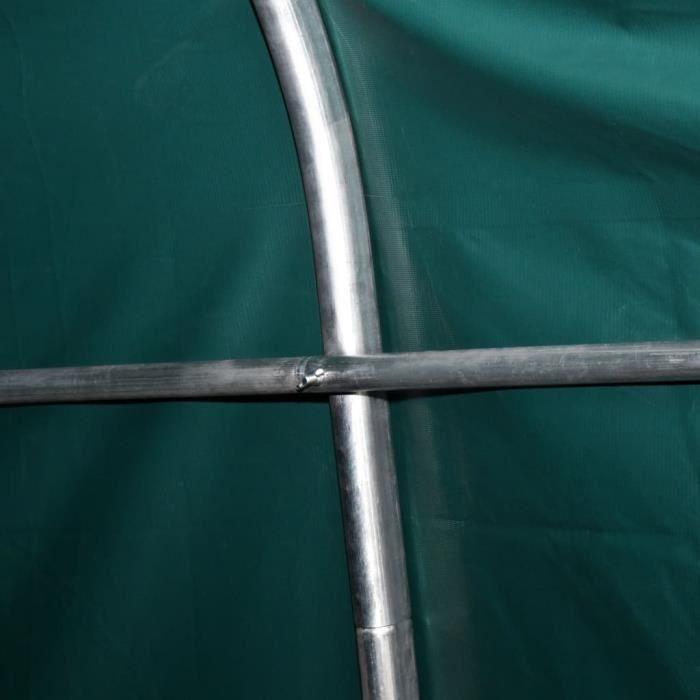 TENTE DE CAMPING Tente amovible pour bétail PVC 550 g-m² 3,3 x 9,6