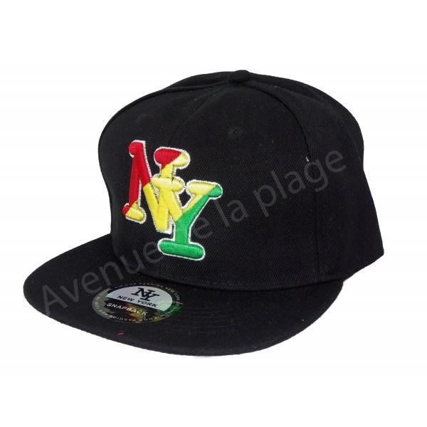 casquette new york noire logo ny rasta achat vente casquette casquette new york noire lo. Black Bedroom Furniture Sets. Home Design Ideas