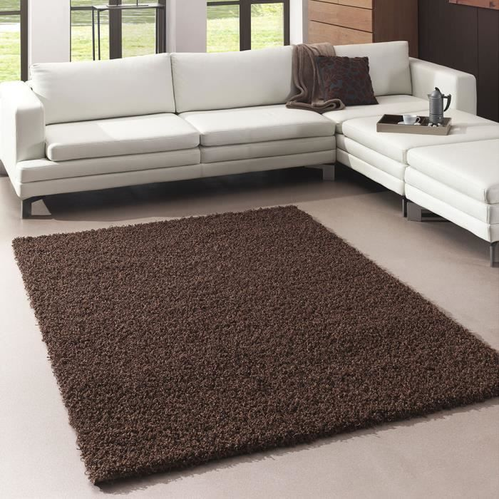 tapis moderne shaggy flex marron 120x170 par les tapis achat vente tapis cdiscount. Black Bedroom Furniture Sets. Home Design Ideas