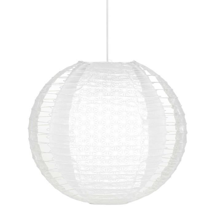 Luminaire suspension boule papier for Suspension boule