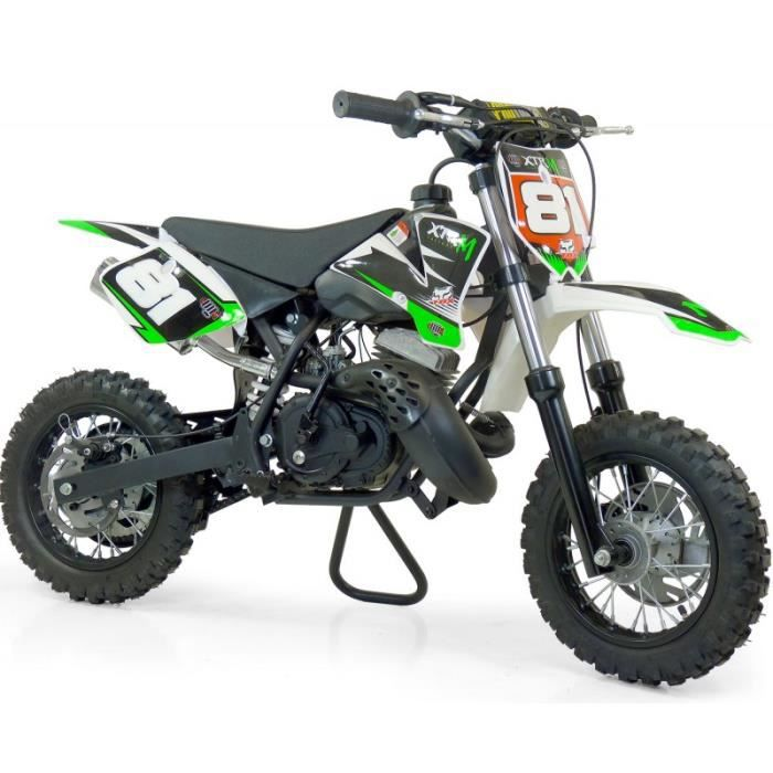 mini moto cross 50 nrg verte petites roues type ktm. Black Bedroom Furniture Sets. Home Design Ideas