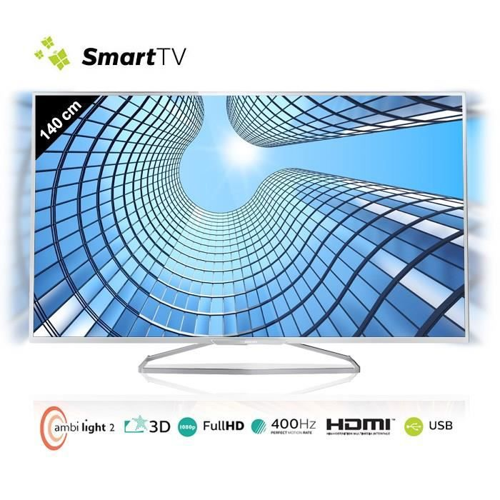 philips 55pfs6609 smart tv full hd 3d 140 cm t l viseur. Black Bedroom Furniture Sets. Home Design Ideas