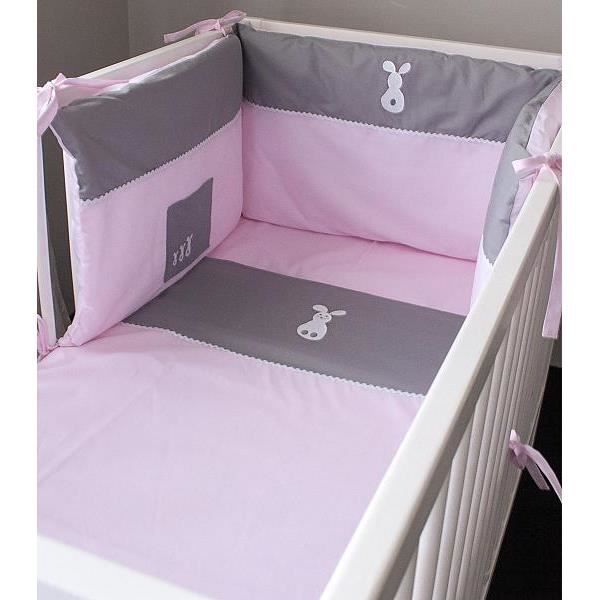 tour de lit rose et gris fabulous tour de lit rose pastel with tour de lit rose et gris good. Black Bedroom Furniture Sets. Home Design Ideas