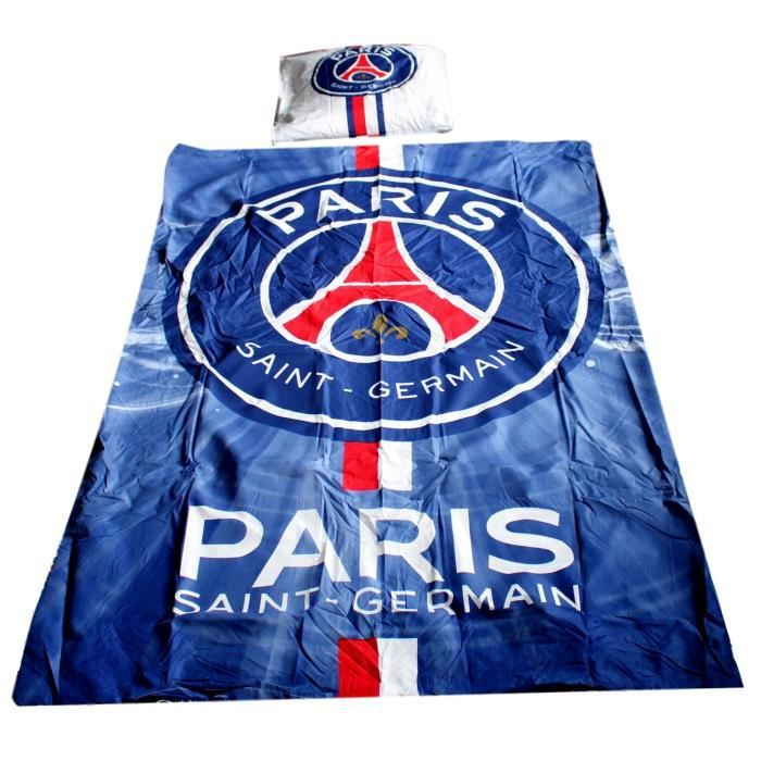 psg housse de couette parure de lit paris saint germain neymar cavani achat vente housse de. Black Bedroom Furniture Sets. Home Design Ideas
