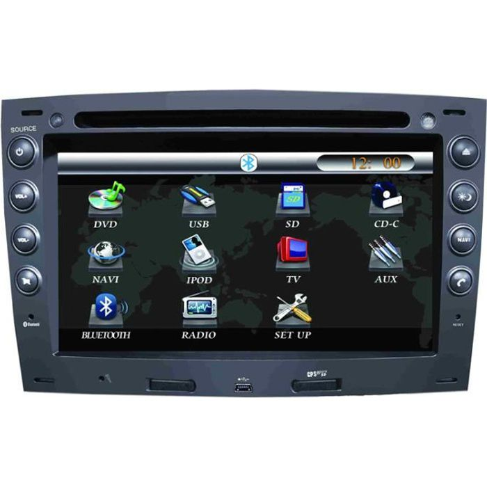 autoradio pour renault megane avec gps 7 pouc achat. Black Bedroom Furniture Sets. Home Design Ideas