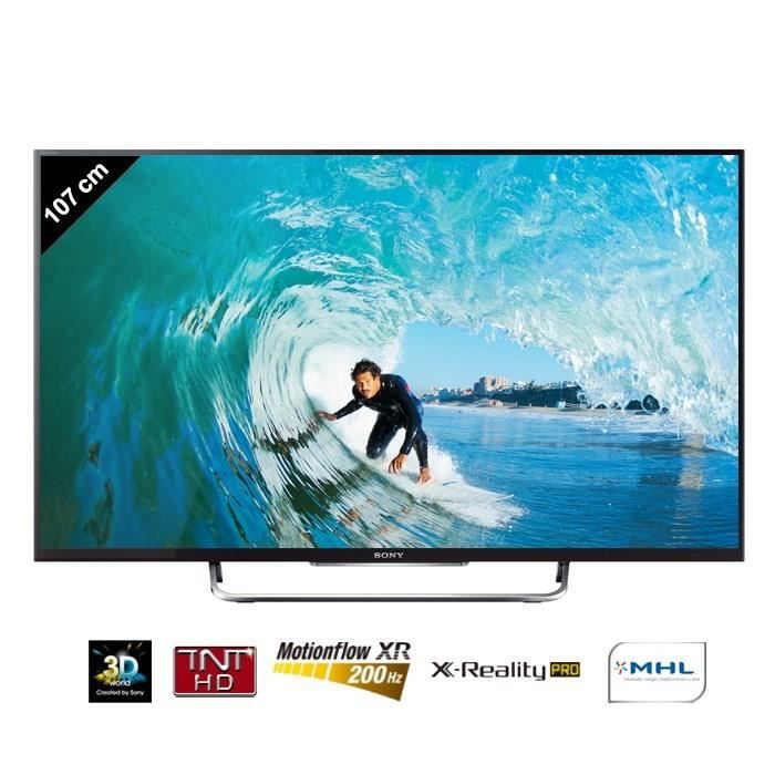 sony bravia kdl42w805 tv connect 3d 107 cm t l viseur. Black Bedroom Furniture Sets. Home Design Ideas