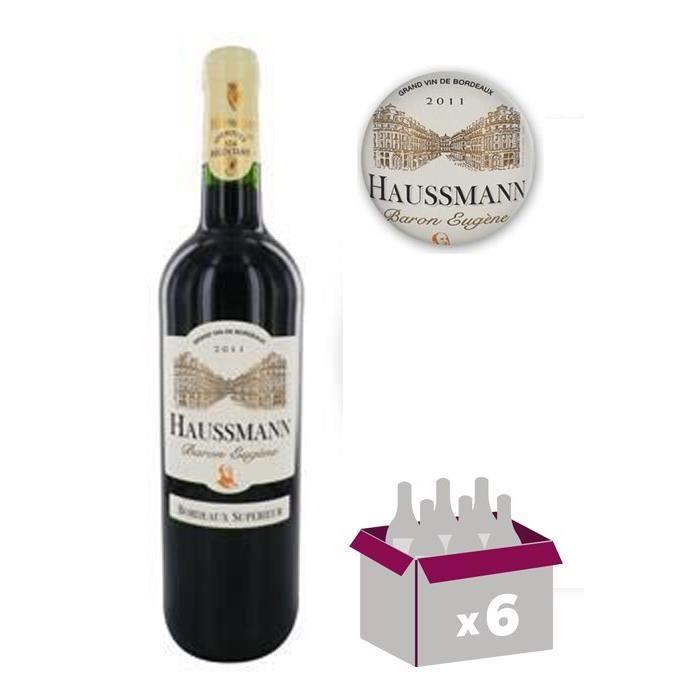 HAUSSMAN Baron Eugène - Bordeaux Supérieur - Vin de Bordeaux - Rouge - 75 cl x6