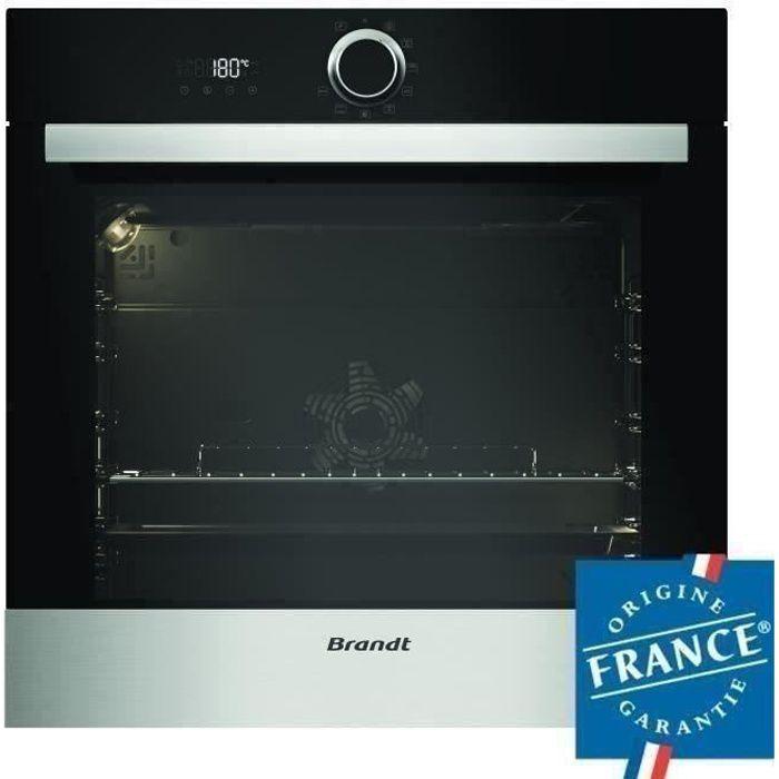 BRANDT BXP5560X - Four électrique encastrable multifonction chaleur tournante - 73L - Pyrolyse - A+ - Inox