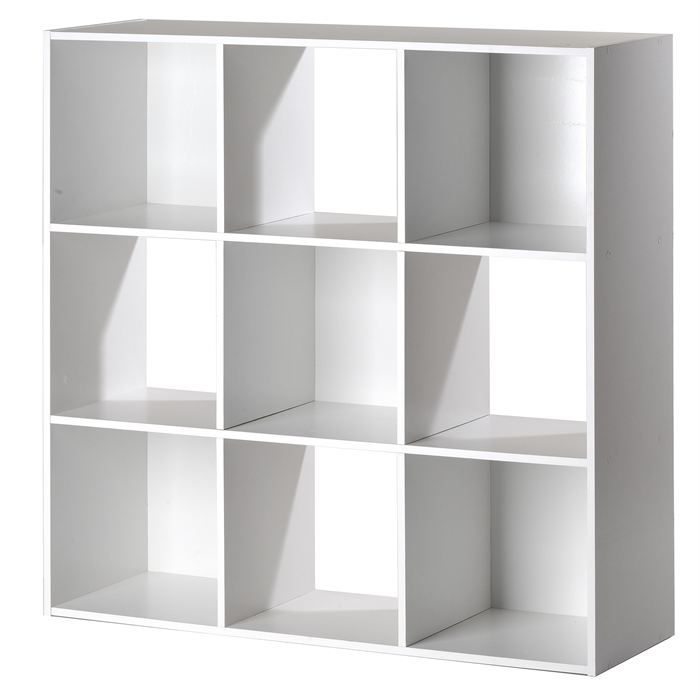 cube de rangement 9 niches blanc achat vente boite de. Black Bedroom Furniture Sets. Home Design Ideas