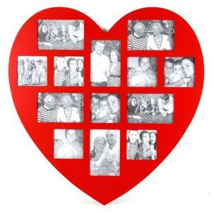 """Love Coeur 4x6/"""" portrait cadre photo en bois métal autoportante Cadeau Mariage"""