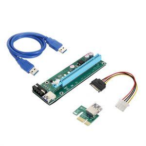 CÂBLE E-SATA 1 Pcs USB 3.0 PCI-E express 1X à 16X extension car