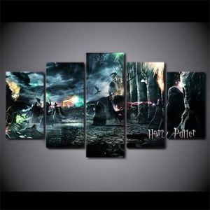 TABLEAU - TOILE Toile Printed pictures 5 pieces Harry Potter peint