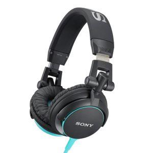 CASQUE - ÉCOUTEURS SONY MDR-V55 Casque audio stéréo - Noir et Bleu
