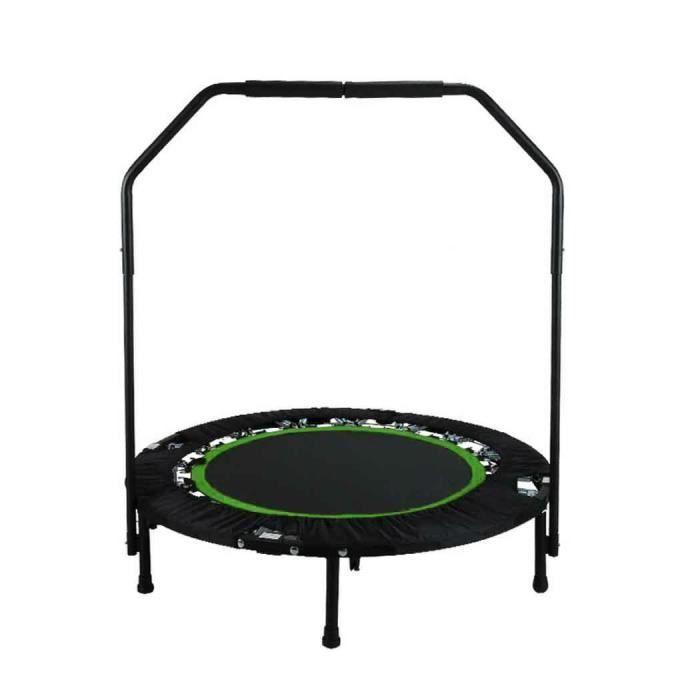 ANCHEER Trampoline fitness pliable pour adulte enfant / Trampoline jardin Ø 102 cm / Poignée réglable - Vert