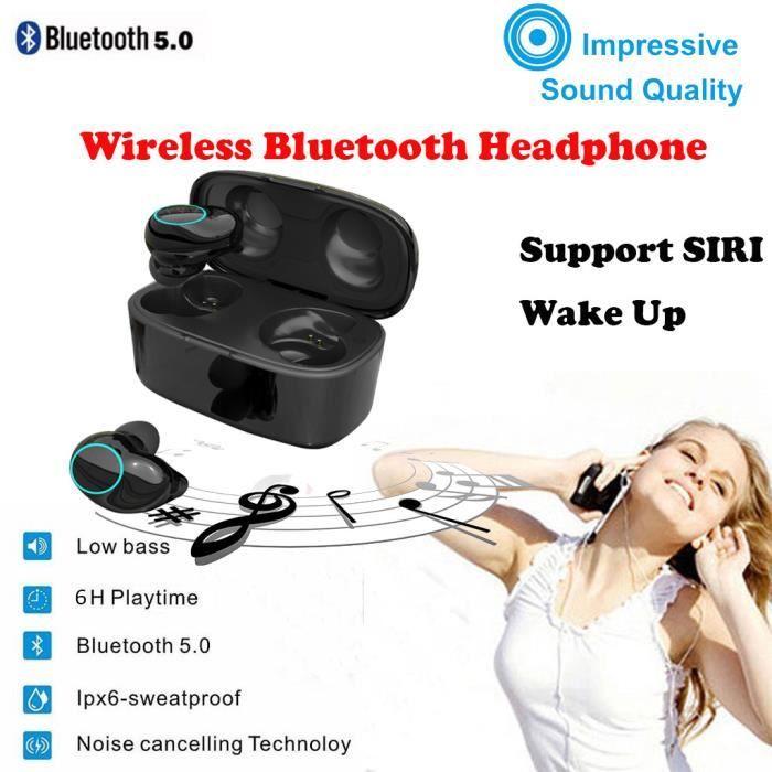 Sans fil Bluetooth 5.0 Salut-Fi Waterproof Sound mains libres Bluetooth écouteurs LEI90417001