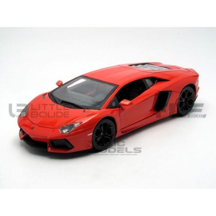 Voiture Miniature de Collection - BBURAGO 1/18 - LAMBORGHINI Aventador LP 700-4 - 2011 - Orange - 11033OR